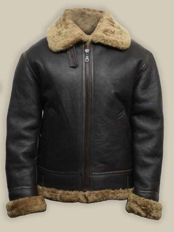 men black b3 shearling leather jacket