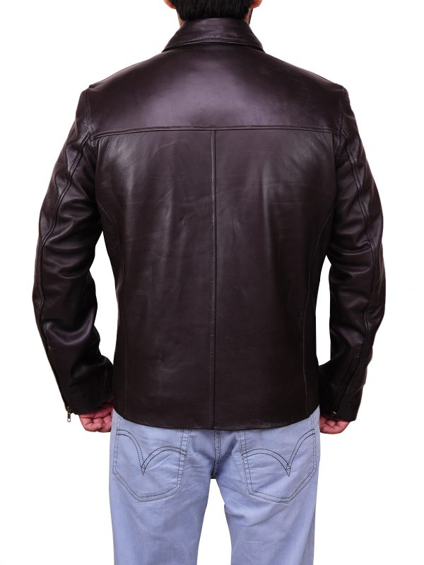 men leather jacket, black leather jacket