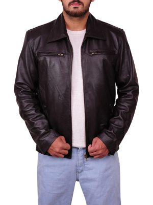 black jacket, stylish leather jacket