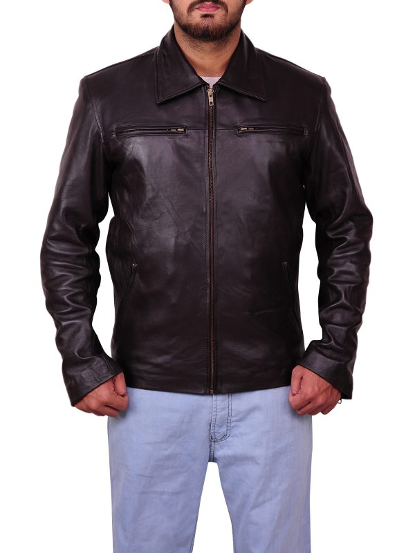 Trendy leather jacket, obama leather jacket