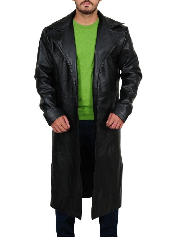 Trendy black jacket, pure leather jacket