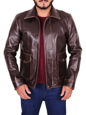 vintage brown leather jacket, vintage brown jacket for men