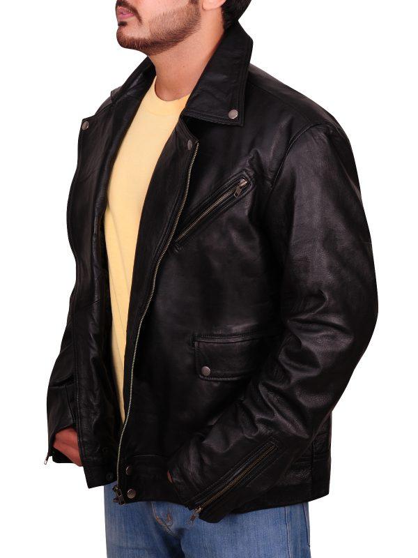 pure leather jacket, trendy leather jacket