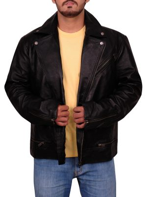 black leather jacket, teen leather jacket