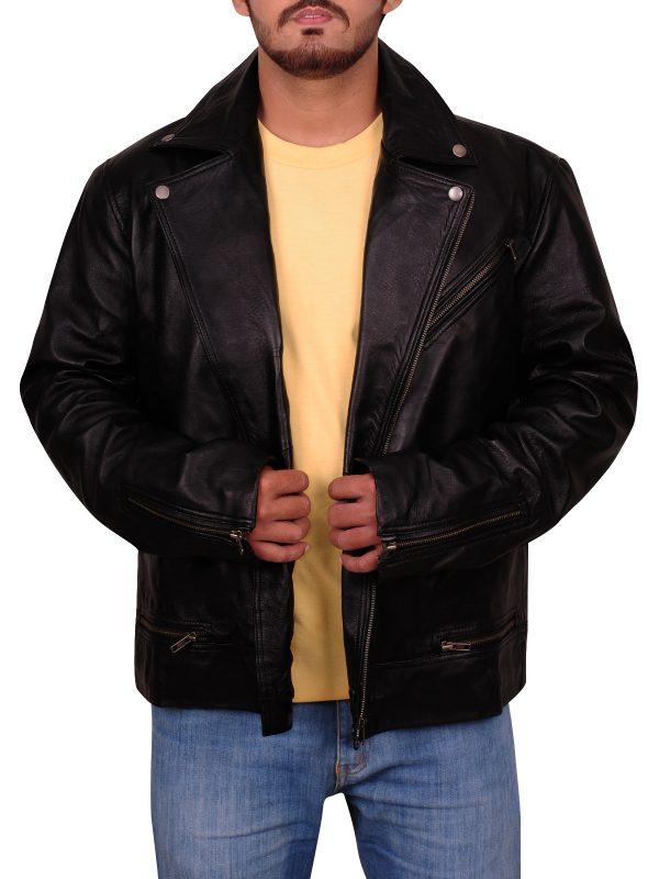 black leather jacket, teen leather jacket
