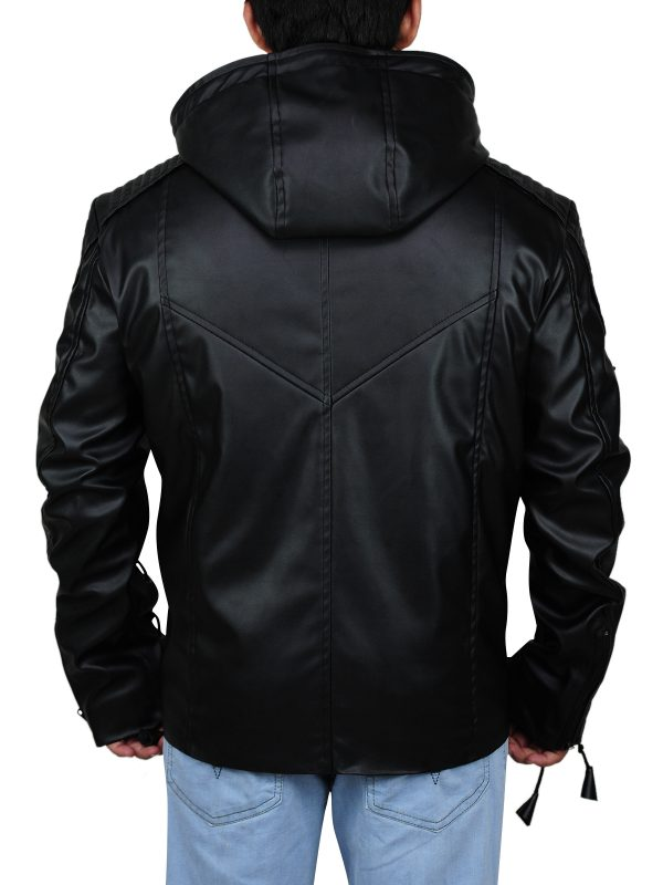 Hoodie style jacket, pure black jacket