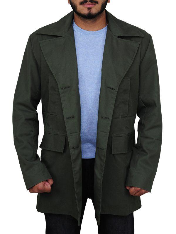 green coat, smart coat