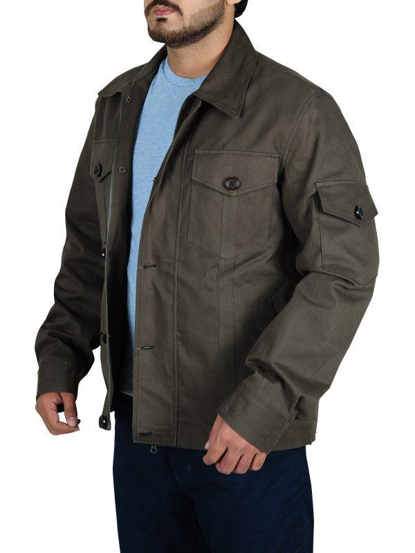 trendy grey jacket, supernatural jacket