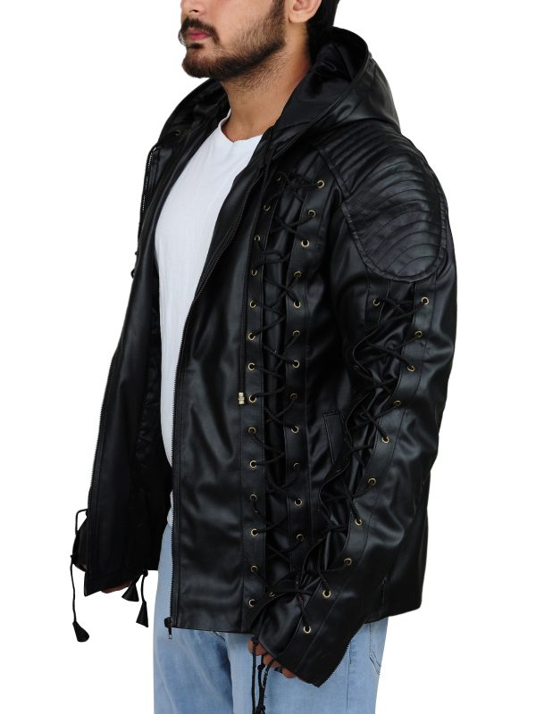 cool black hoodie jacket, winter collection