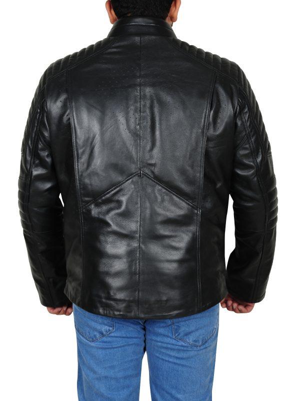 Famous jacket, Pitch black leather jacket