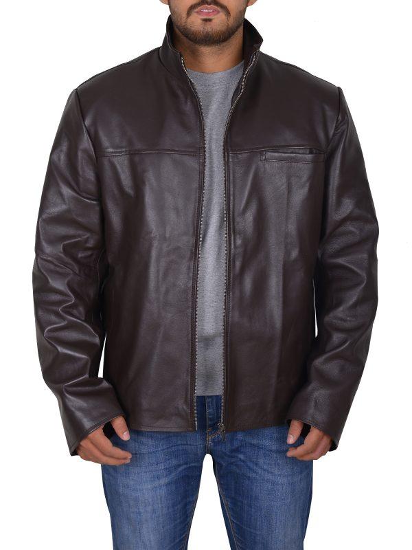 trendy leather jacket, fashionable leather jacket