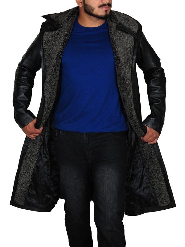 fur collar long coat, top of the line coat