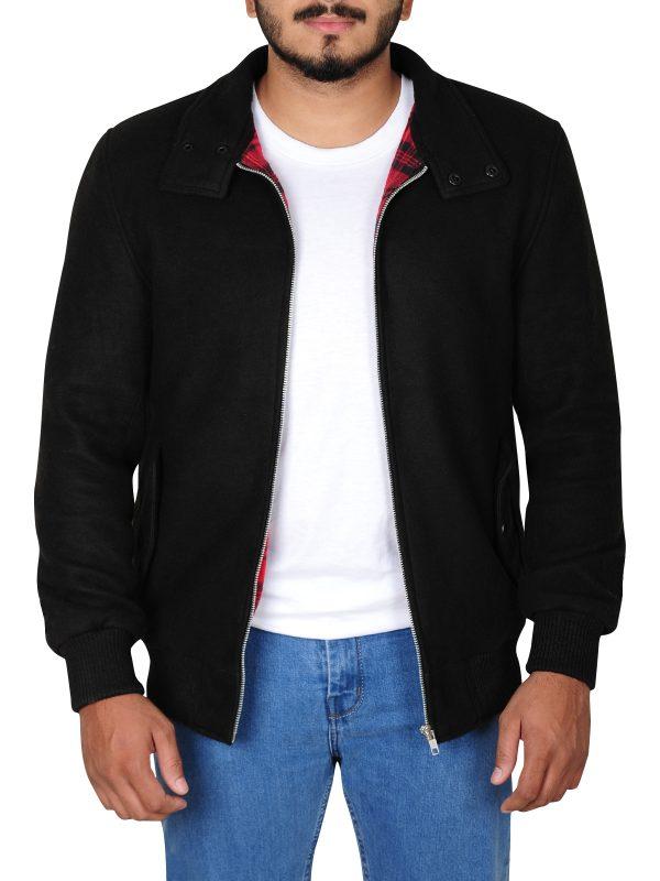 trending black jacket, stylish fleece jacket