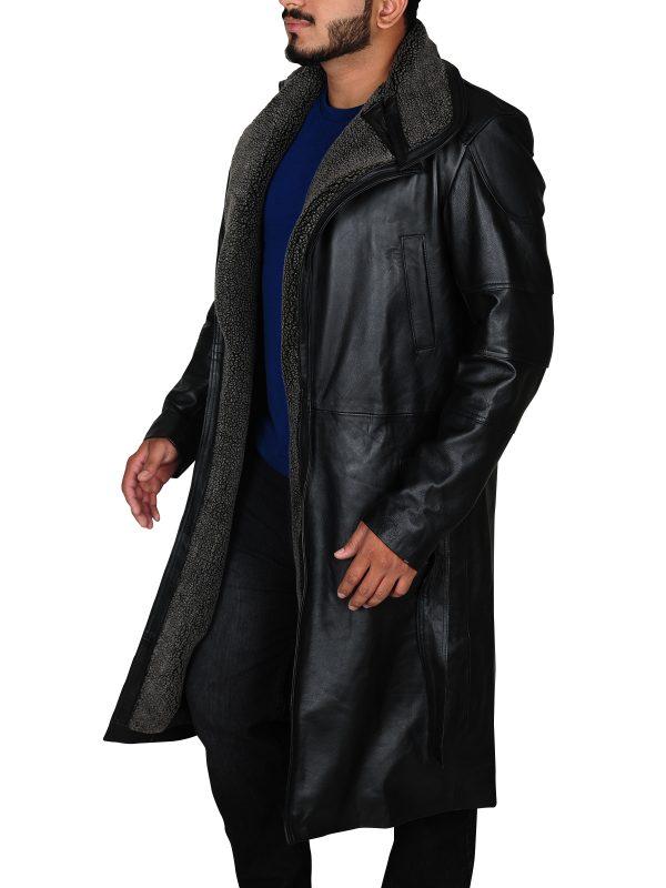 men fashion coat, trendy black coat