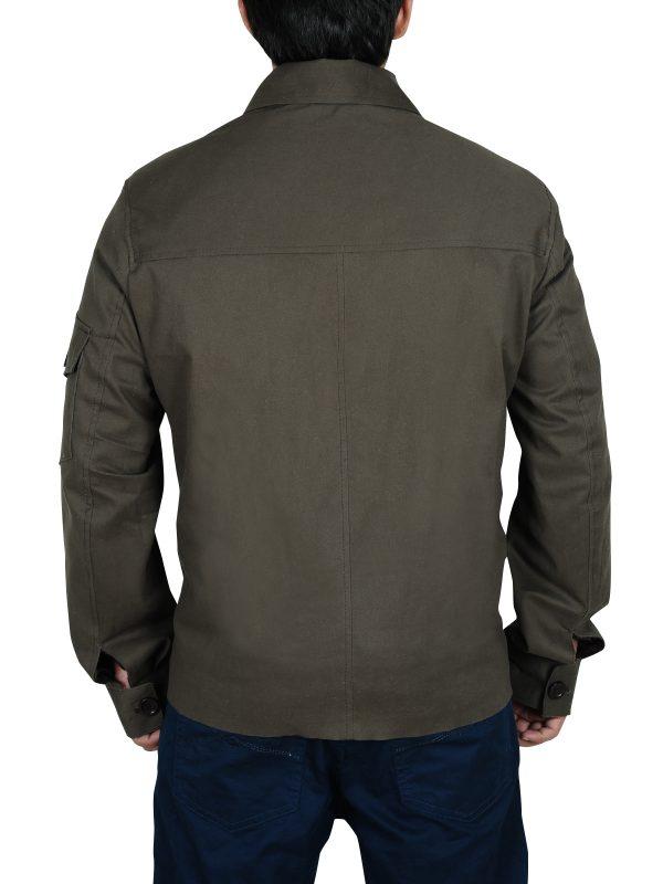 famous leather jacket, ash grey jacket