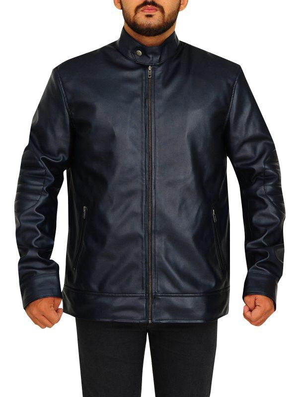 electric blue men jacket, purple leather jacket,