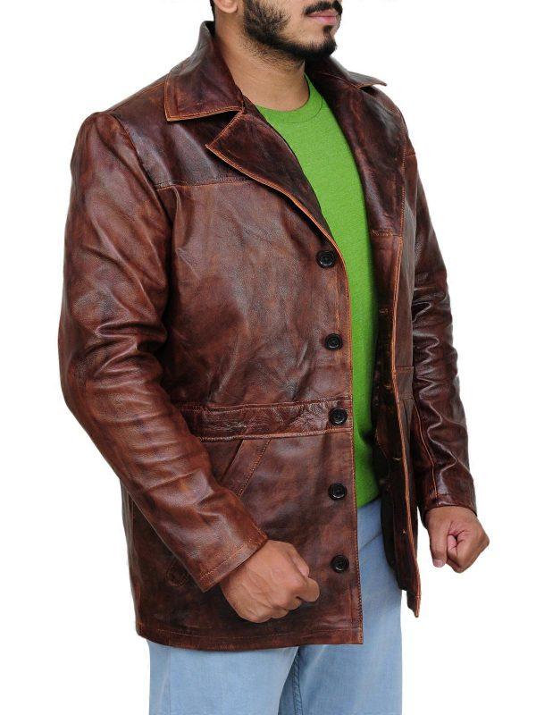 stylish leather jacket, cool jacket