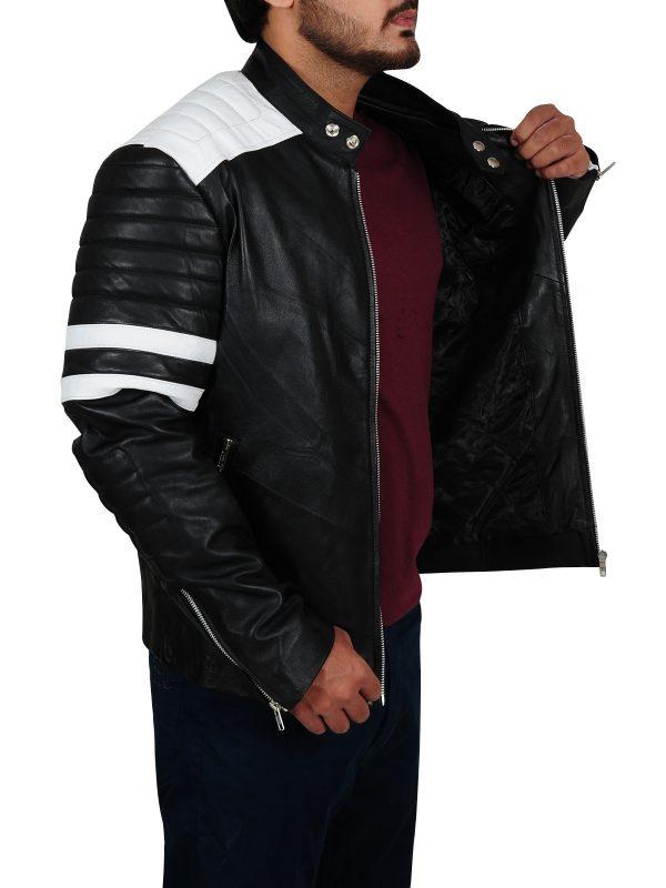 cool leather jacket, dave franco leather jacket