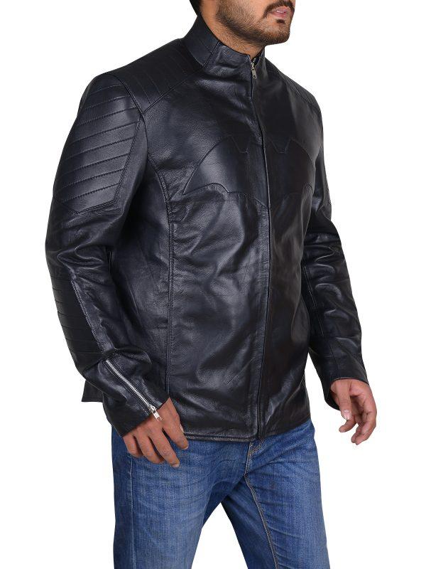 slim fitted jacket, fashionable leather jacket