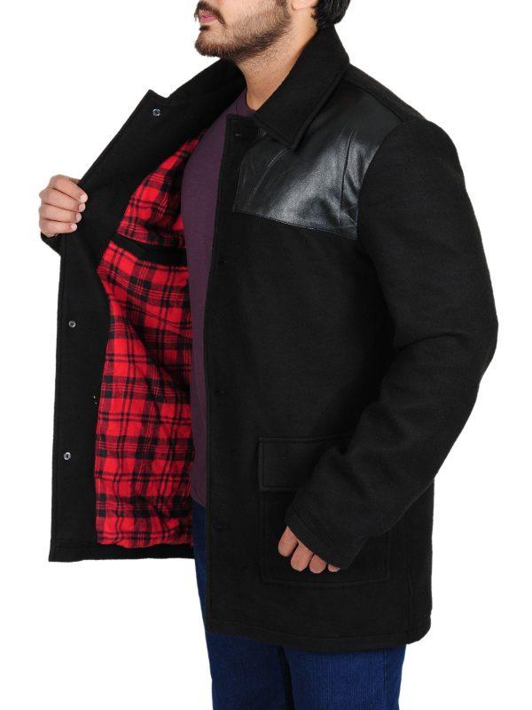 stylish black coat for men, trending jacket