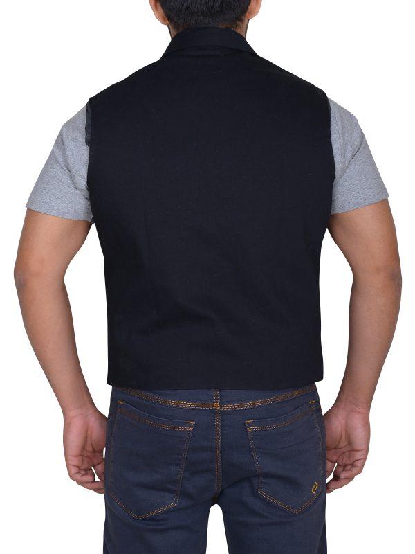 men cool vest, sleeveless black vest