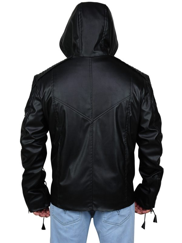Arrow leather jacket, trending black jacket