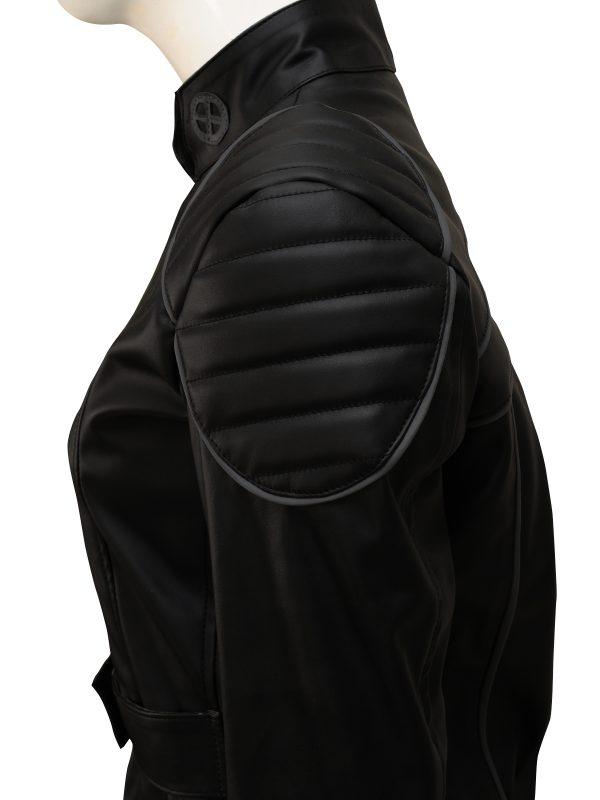 unique black jacket, girl leather jacket