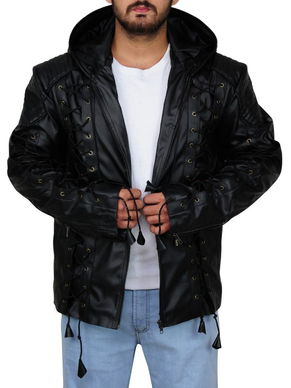 attractive black jacket, popular tv series jacket