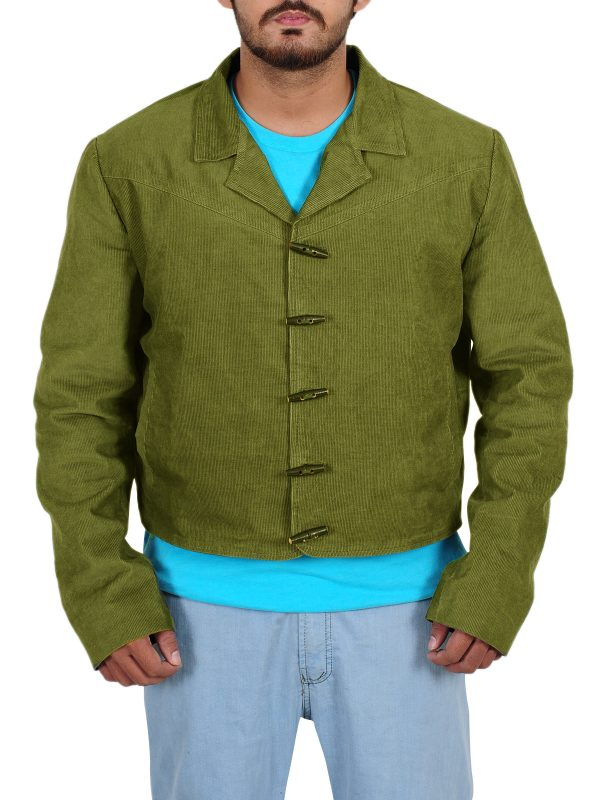 green color jacket, trendy jacket
