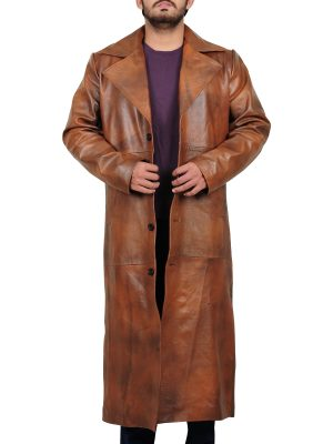 popular leather coat, attractive leather coat