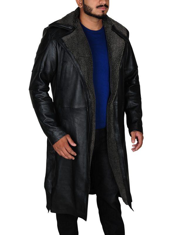 dashing black long coat, trending long coat