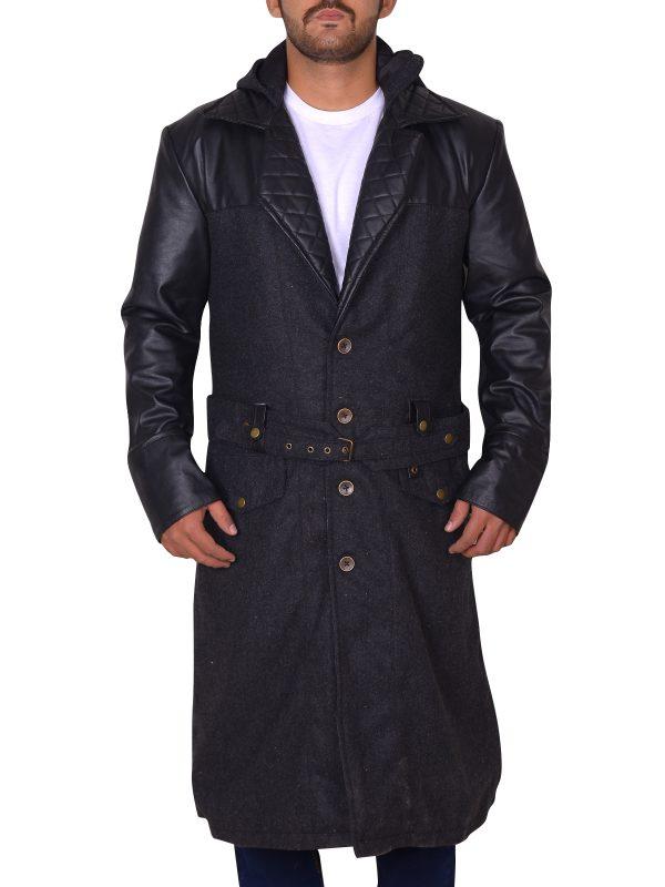trendy long coat, black jacket