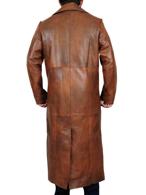 best quality leather coat, classy long coat