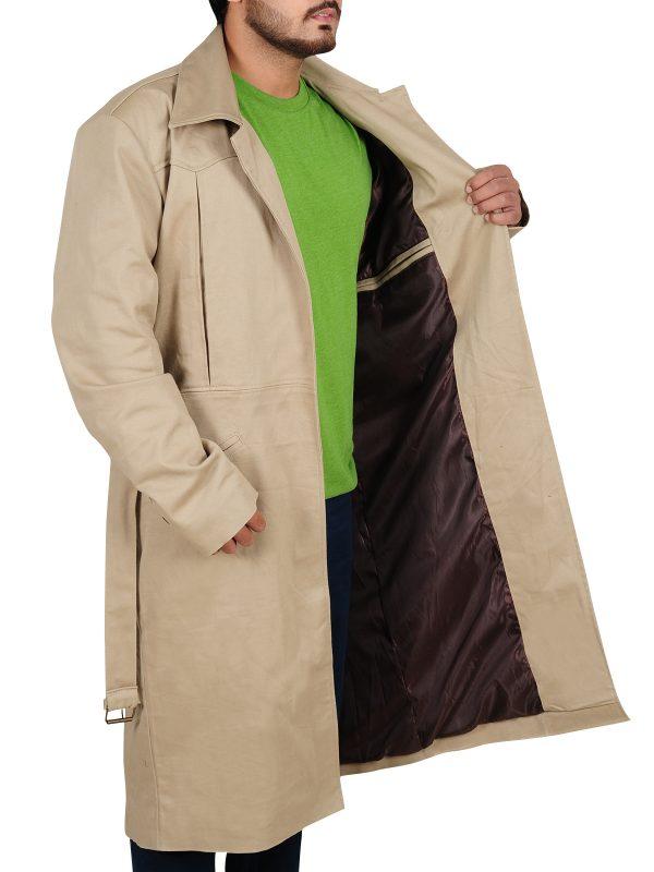 white coat, cotton coat