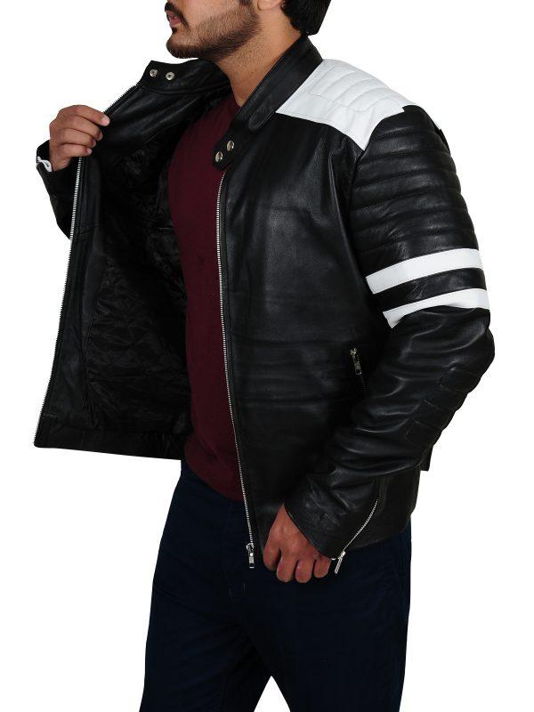 classy biker jacket, trendy leather jacket