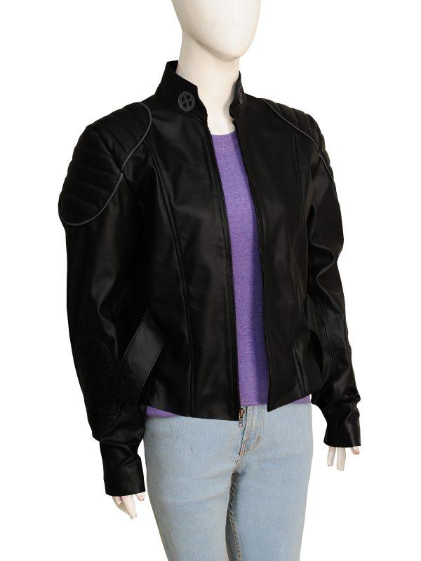 hot leather jacket, stylish leather jacket