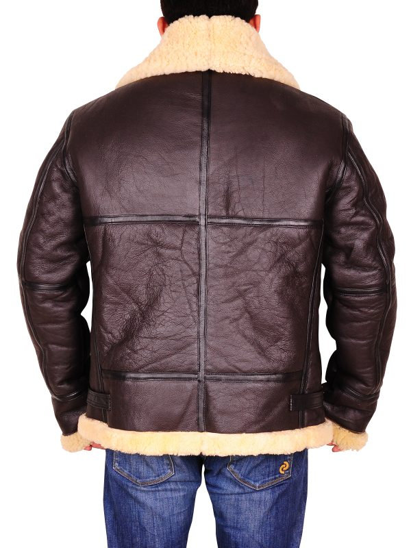 Bomber B3 leather jacket, trending dark brown jacket