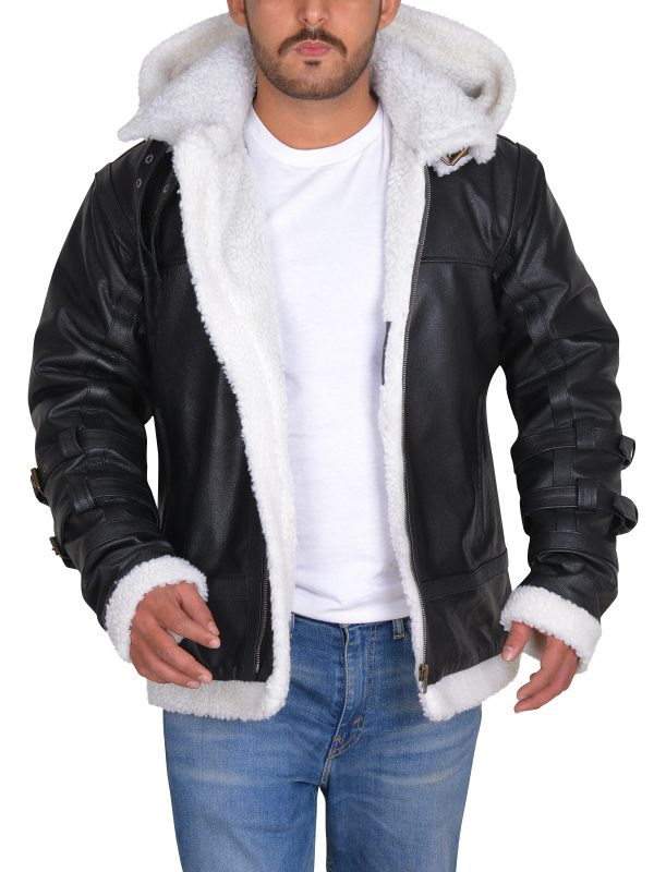 Shearling leather jacket, B3 cool jacket