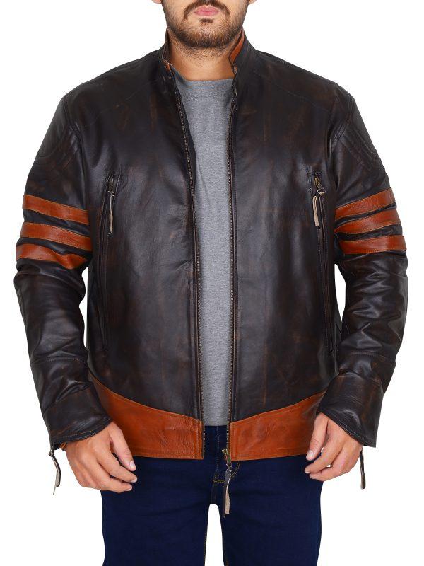 wolverine leather jacket, hugh jackman leather jacket, x men leather jacket