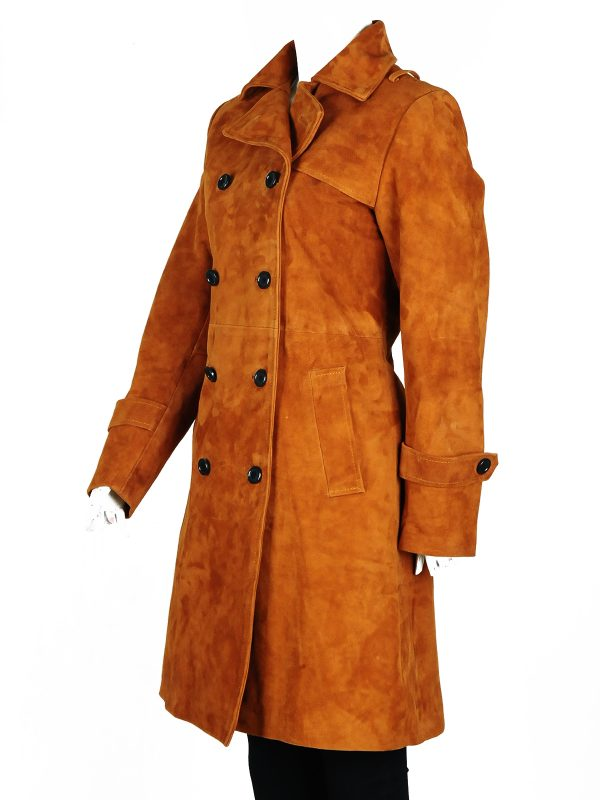 chloe decker brown coat, girl fashion coat
