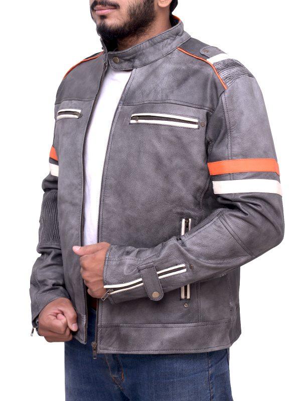 cool retro leather jacket, cafe racer leather jacket