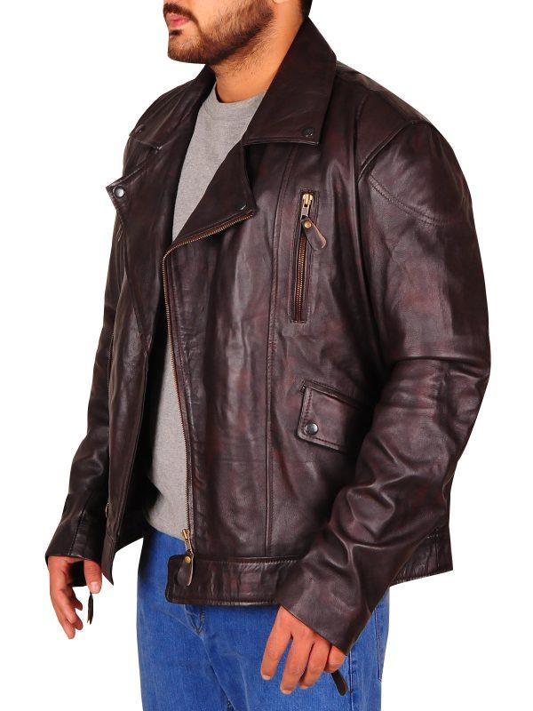 cafe racer biker jacket, pure biker leather jacket