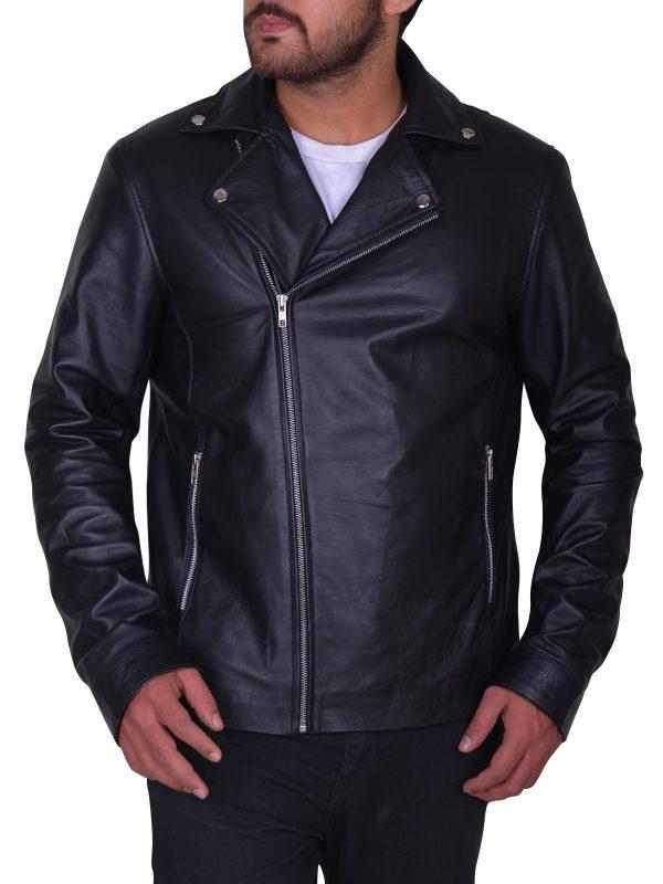 trendy leather jacket, cool black leather jacket