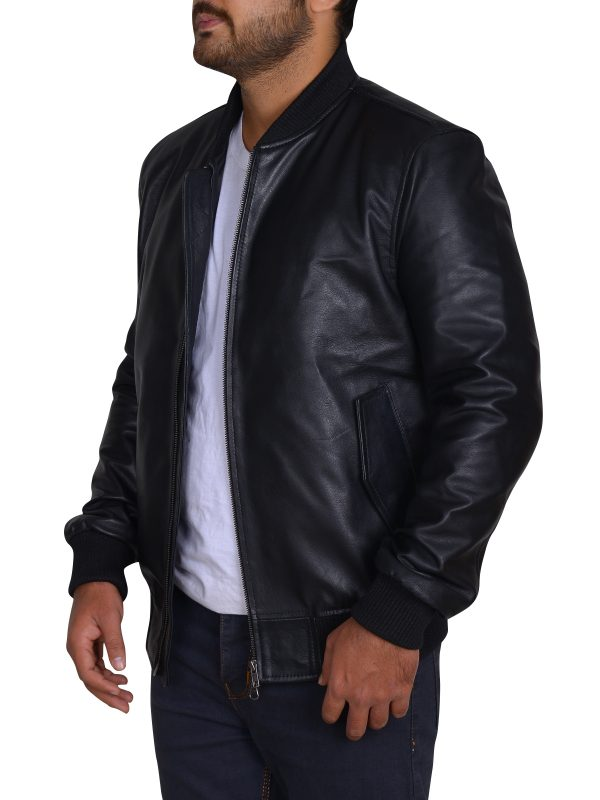 GEORGE EADS JACKET, trendy black leather jacket