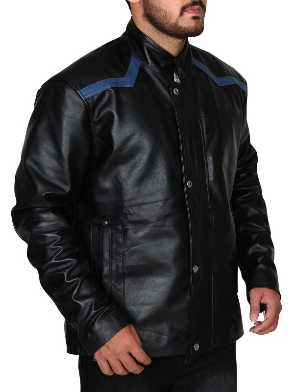 fashionable leather jacket, attractive leather jacket