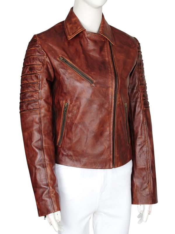 fashionable leather jacket, teen leather jacket