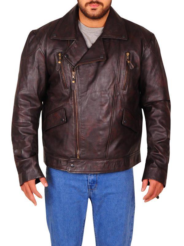 men fashion leather jacket, trendy brando jacket