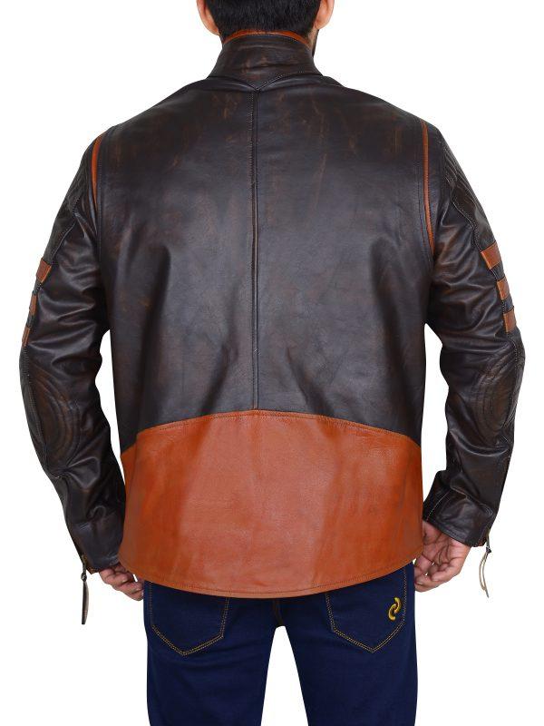 stylish black jacket, men trendy leather jacket
