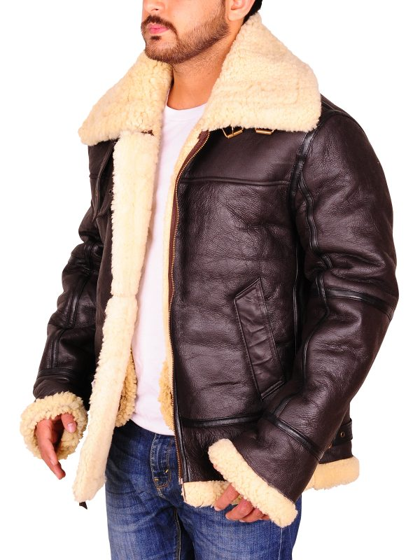 cool leather jacket, brown aviation jacket