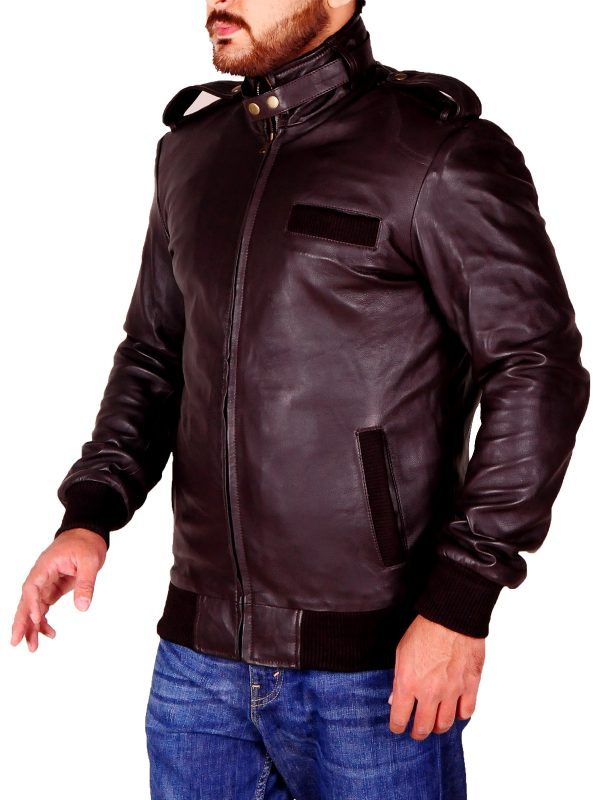 zipper leather jacket, perfect brown jacket